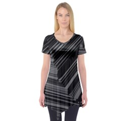 Paper Low Key A4 Studio Lines Short Sleeve Tunic