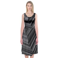 Paper Low Key A4 Studio Lines Midi Sleeveless Dress