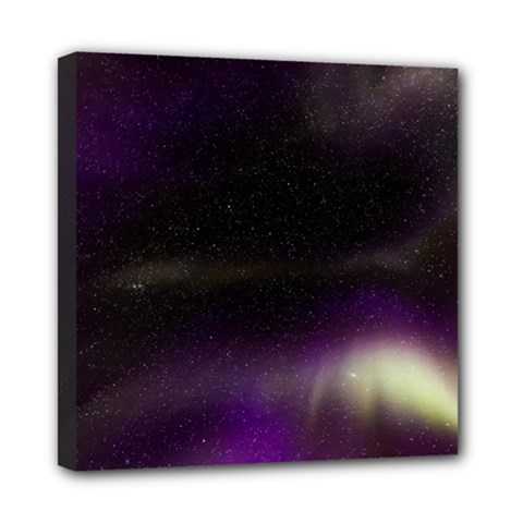 The Northern Lights Nature Mini Canvas 8  X 8