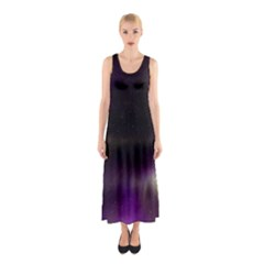 The Northern Lights Nature Sleeveless Maxi Dress