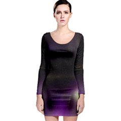 The Northern Lights Nature Long Sleeve Bodycon Dress