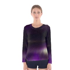 The Northern Lights Nature Women s Long Sleeve Tee