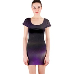 The Northern Lights Nature Short Sleeve Bodycon Dress