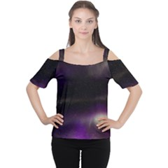 The Northern Lights Nature Women s Cutout Shoulder Tee