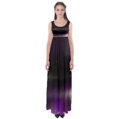 The Northern Lights Nature Empire Waist Maxi Dress