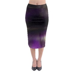 The Northern Lights Nature Midi Pencil Skirt