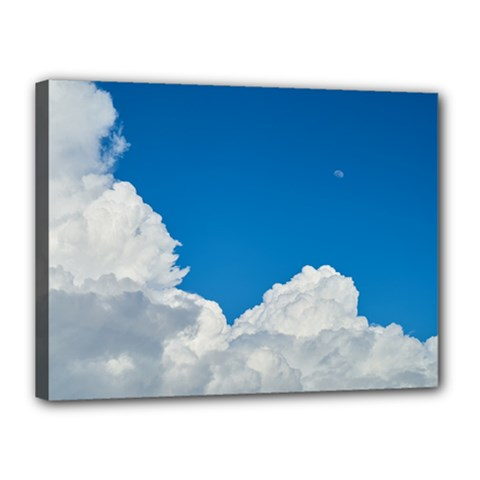 Sky Clouds Blue White Weather Air Canvas 16  X 12
