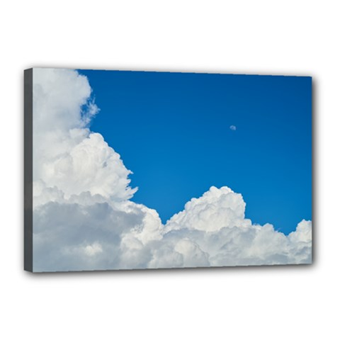 Sky Clouds Blue White Weather Air Canvas 18  X 12