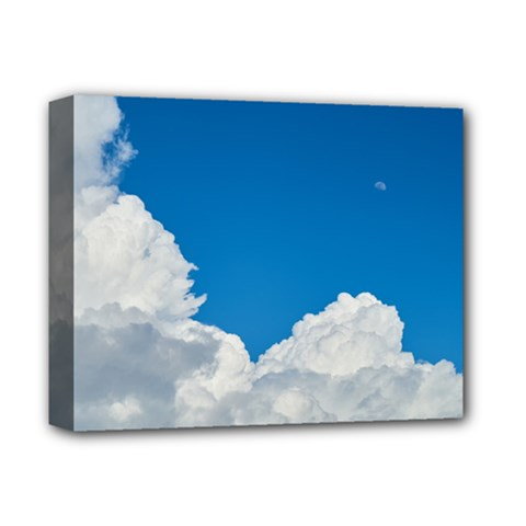 Sky Clouds Blue White Weather Air Deluxe Canvas 14  x 11