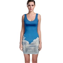 Sky Clouds Blue White Weather Air Sleeveless Bodycon Dress