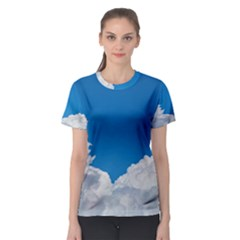 Sky Clouds Blue White Weather Air Women s Sport Mesh Tee