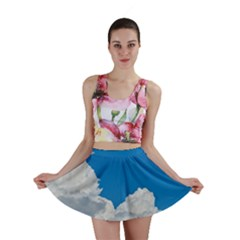Sky Clouds Blue White Weather Air Mini Skirt