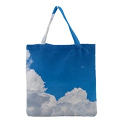 Sky Clouds Blue White Weather Air Grocery Tote Bag