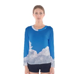 Sky Clouds Blue White Weather Air Women s Long Sleeve Tee