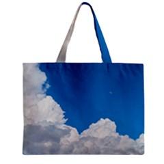 Sky Clouds Blue White Weather Air Zipper Mini Tote Bag