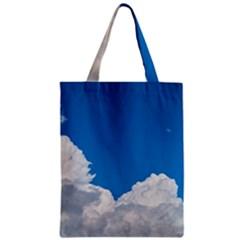 Sky Clouds Blue White Weather Air Zipper Classic Tote Bag
