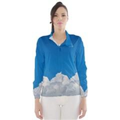Sky Clouds Blue White Weather Air Wind Breaker (Women)