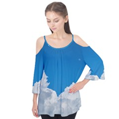 Sky Clouds Blue White Weather Air Flutter Tees