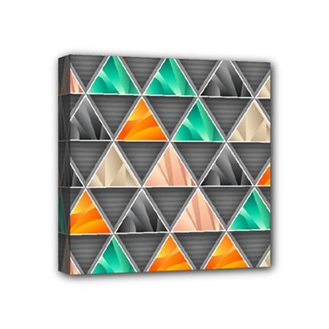 Abstract Geometric Triangle Shape Mini Canvas 4  x 4