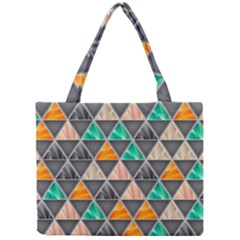 Abstract Geometric Triangle Shape Mini Tote Bag
