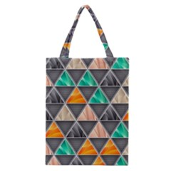 Abstract Geometric Triangle Shape Classic Tote Bag