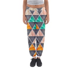 Abstract Geometric Triangle Shape Women s Jogger Sweatpants
