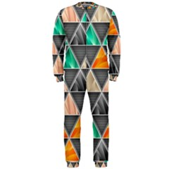 Abstract Geometric Triangle Shape Onepiece Jumpsuit (men)