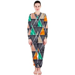 Abstract Geometric Triangle Shape Onepiece Jumpsuit (ladies)