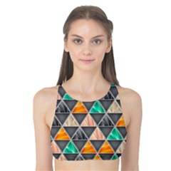 Abstract Geometric Triangle Shape Tank Bikini Top