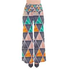 Abstract Geometric Triangle Shape Pants