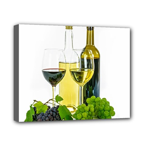 White Wine Red Wine The Bottle Canvas 10  x 8