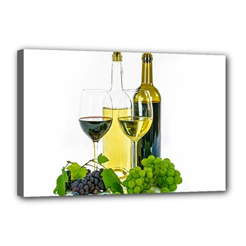 White Wine Red Wine The Bottle Canvas 18  x 12