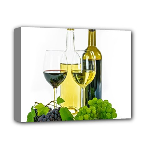 White Wine Red Wine The Bottle Deluxe Canvas 14  x 11