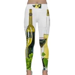 White Wine Red Wine The Bottle Classic Yoga Leggings