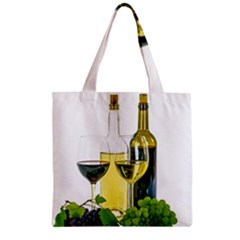 White Wine Red Wine The Bottle Zipper Grocery Tote Bag