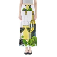 White Wine Red Wine The Bottle Full Length Maxi Skirt