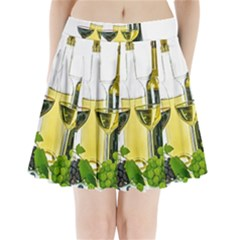 White Wine Red Wine The Bottle Pleated Mini Skirt