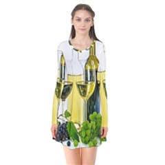 White Wine Red Wine The Bottle Flare Dress