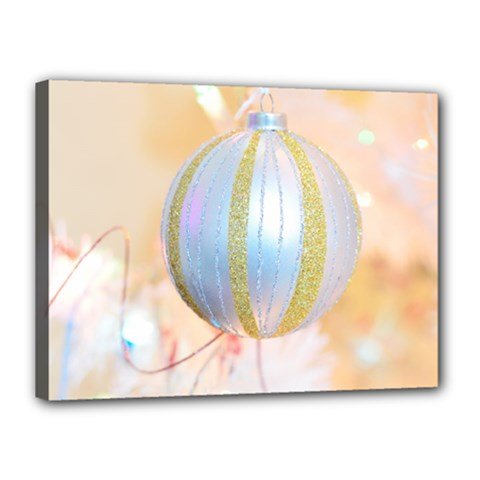 Sphere Tree White Gold Silver Canvas 16  X 12