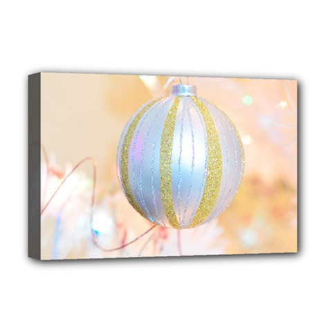 Sphere Tree White Gold Silver Deluxe Canvas 18  X 12