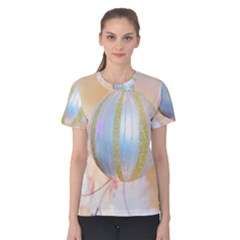 Sphere Tree White Gold Silver Women s Cotton Tee