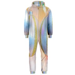 Sphere Tree White Gold Silver Hooded Jumpsuit (Men)