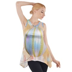 Sphere Tree White Gold Silver Side Drop Tank Tunic