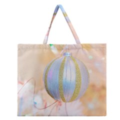 Sphere Tree White Gold Silver Zipper Large Tote Bag