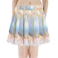 Sphere Tree White Gold Silver Pleated Mini Skirt