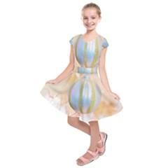 Sphere Tree White Gold Silver Kids  Short Sleeve Dress