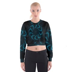 Background Abstract Decorative Cropped Sweatshirt