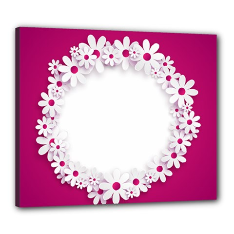 Photo Frame Transparent Background Canvas 24  x 20