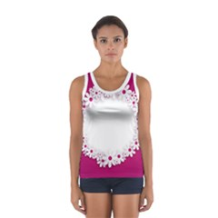 Photo Frame Transparent Background Women s Sport Tank Top