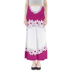 Photo Frame Transparent Background Full Length Maxi Skirt